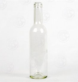 Wine 375 ml Clear Flint Wine Bottles Case/24