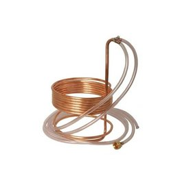 25' Copper Immersion Wort Chiller