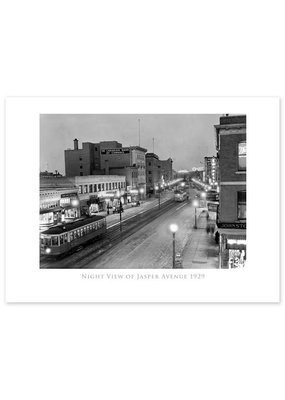 Night View of Jasper Avenue Poster
