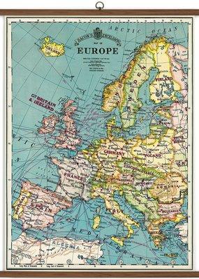 Europe Map School Chart