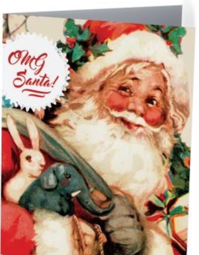 Vivid Print OMG Santa