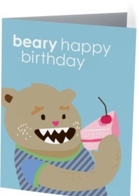 Vivid Print Beary Birthday