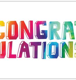 Vivid Print Rainbow Congrats