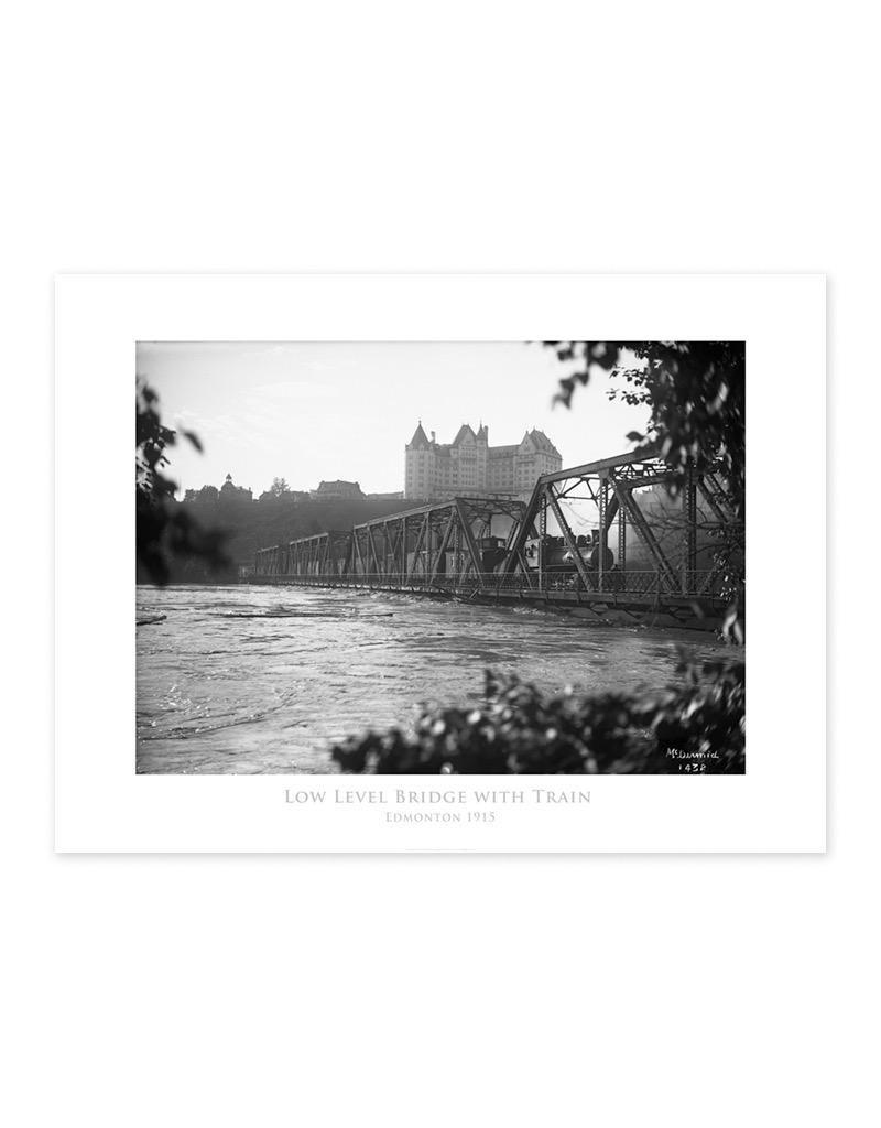 Low Level Bridge With Train 1915 Poster