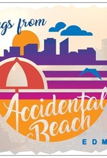 Vivid Print Accidental Beach Postcard