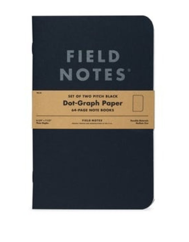 Field Notes Field Notes Pitch Black Ruled Large