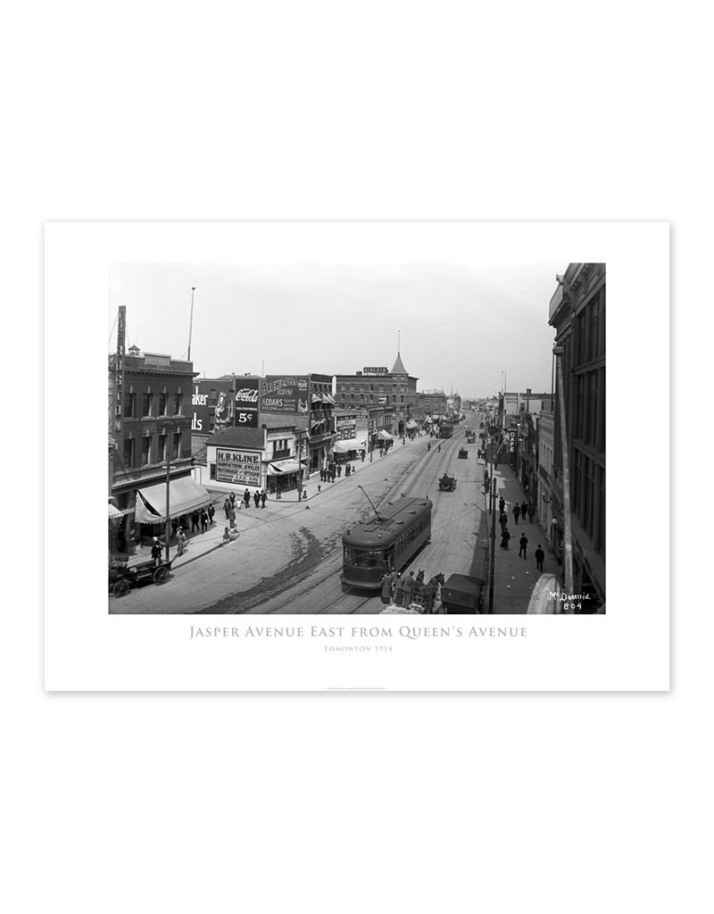Jasper Avenue East from Queen's Avenue 1914 Poster