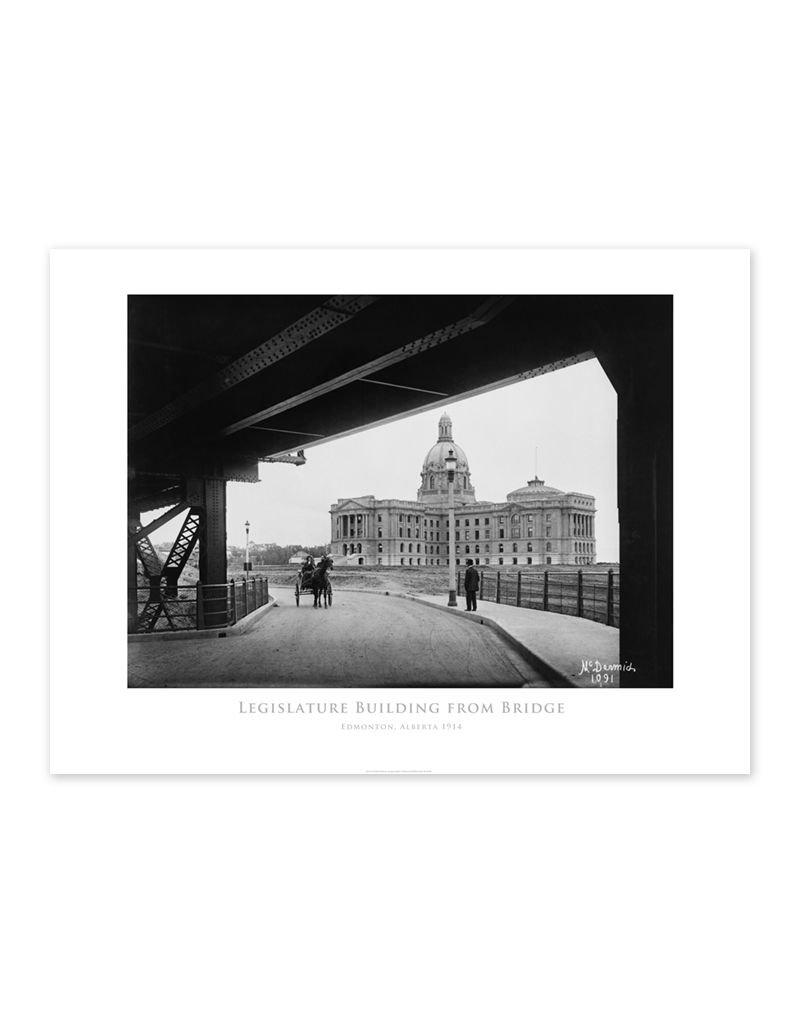 Legislature Building from Bridge 1914 Poster
