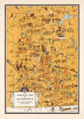 Animated Map of Alberta, 1929