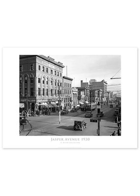 Jasper Avenue Looking East 1930 Poster