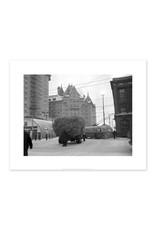 Truck of Hay Stalled on Jasper Avenue January 20, 1952