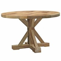 MODENA 48 INCH ROUND DINING TABLE IN NATURAL TEAK