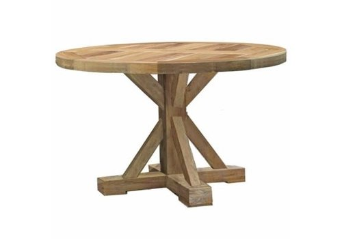 SUMMER CLASSICS MODENA 48 INCH ROUND DINING TABLE IN NATURAL TEAK
