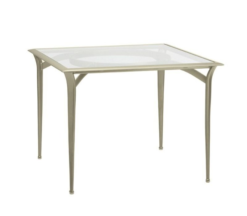 FLIGHT SQUARE BISTRO DINING TABLE WITH GLASS TOP