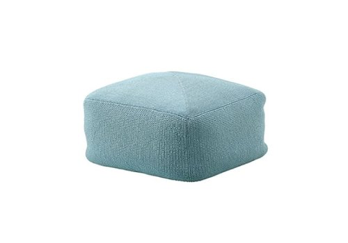 CANE-LINE DIVINE FOOTSTOOL IN TURQUOISE