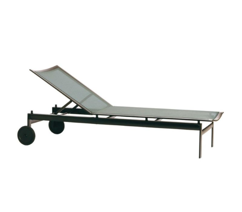 PARKWAY PARABOLIC SLING ADJUSTABLE CHAISE WITH WHEELS