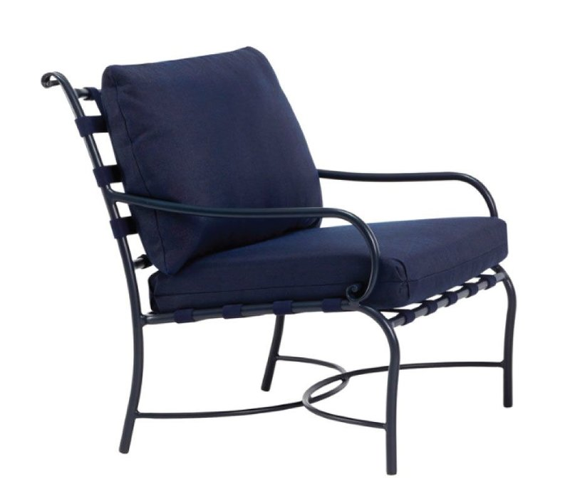 ROMA SUNCLOTH STRAP LOUNGE CHAIR WITH CUSHIONS IN GRADE A FABRIC