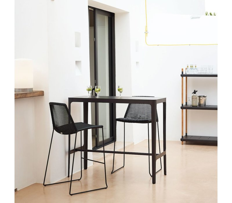BREEZE BAR CHAIR IN BLACK CANE-LINE FIBRE