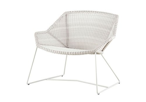 CANE-LINE BREEZE LOUNGE CHAIR IN WHITE GREY CANE-LINE FIBRE