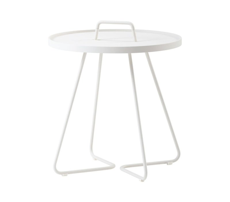 ON-THE-MOVE SIDE TABLE, LARGE IN WHITE