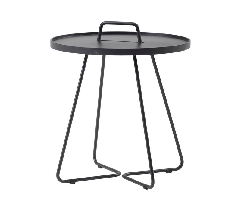 ON-THE-MOVE SIDE TABLE, SMALL IN BLACK