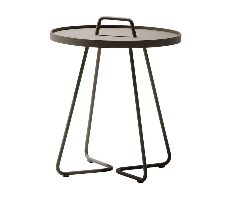 ON-THE-MOVE SIDE TABLE, LARGE IN TAUPE
