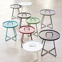 ON-THE-MOVE SIDE TABLE, SMALL IN AQUA