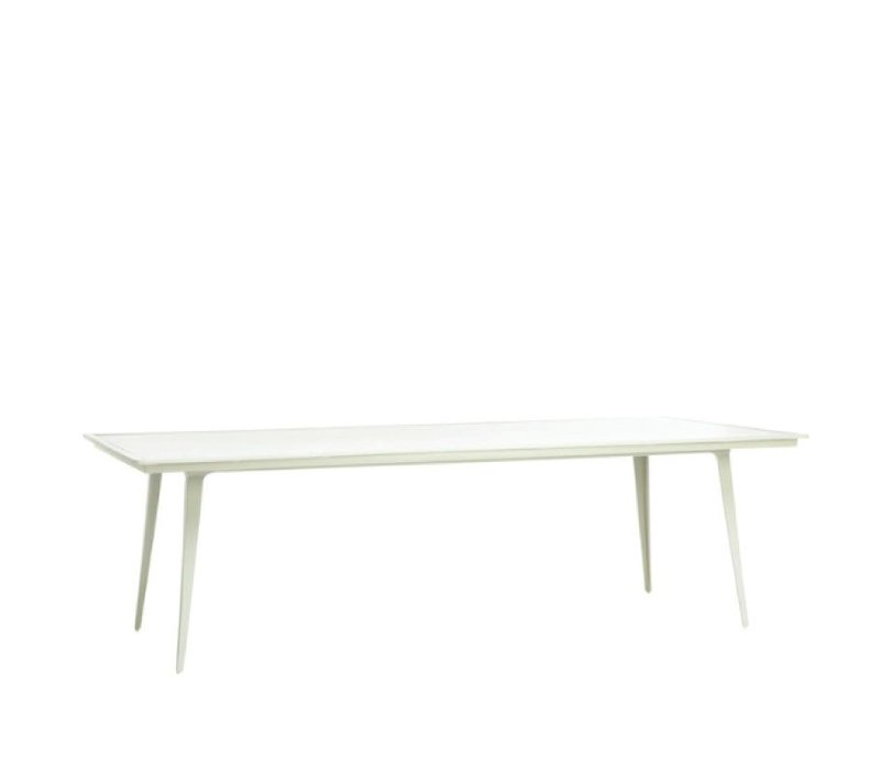 STILL 45 x 99 RECTANGULAR  DINING TABLE WITH SOLID ALUMINUM TOP