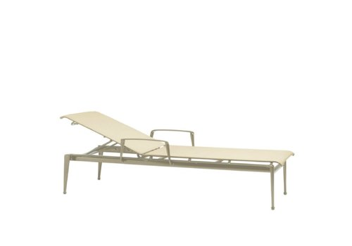 BROWN JORDAN FLIGHT STACKING CHAISE WITH ARMS AND GRADE A SLING