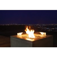 QUAD LP/NG FIRE TABLE IN NATURAL