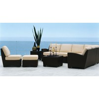 FUSION LOUNGE OTTOMAN IN BRONZE WITH GRADE A FABRIC