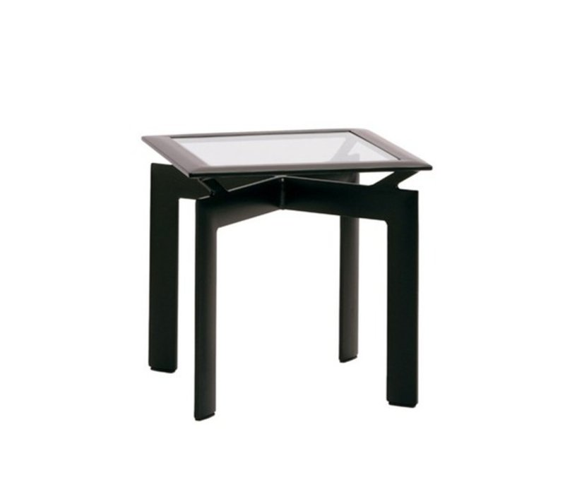 PARKWAY 21 INCH SQUARE OCCASIONAL TABLE WITH GLASS TOP