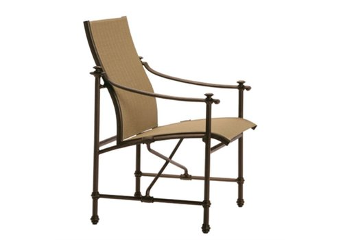 BROWN JORDAN CAMPAIGN SLING ARM CHAIR WITH GRADE A SLING
