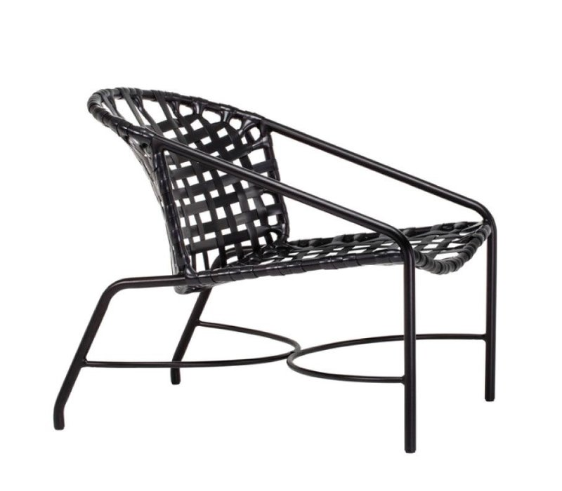 KANTAN ALUMINUM LOUNGE CHAIR WITH VINYL STAP