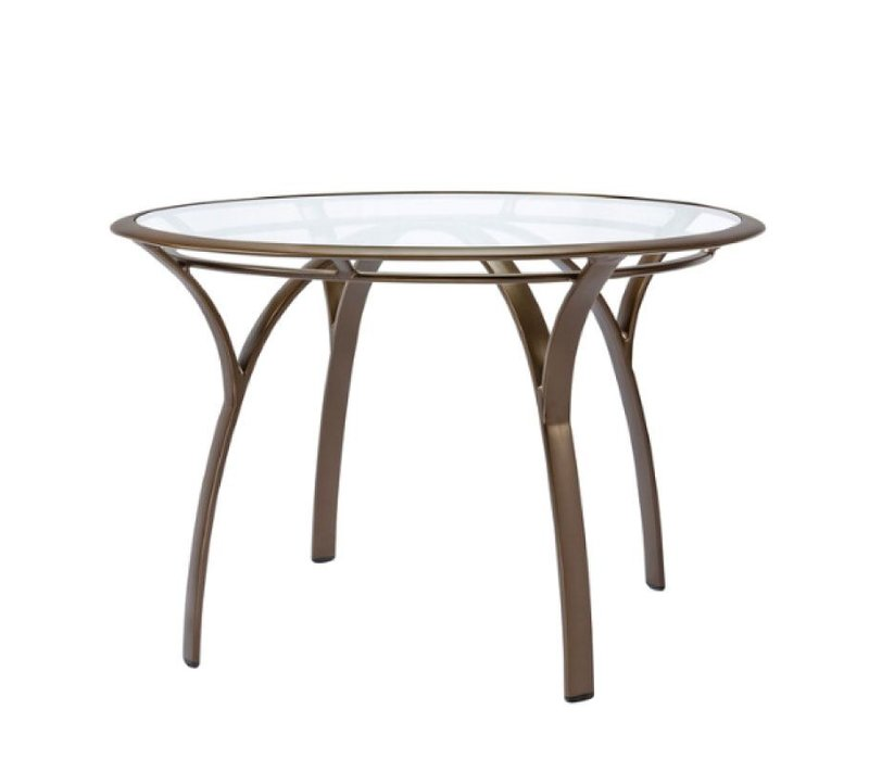 COAST / PASADENA 42 ROUND DINING TABLE WITH GLASS TOP