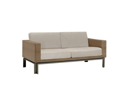 BROWN JORDAN IL VIALE LOVESEAT WITH GRADE A FABRIC