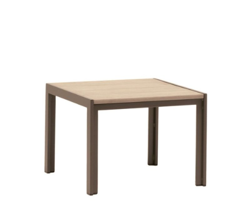 ELEMENTS 20 INCH SQUARE RESINWOOD END TABLE WITH MOCA TOP