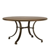 FREMONT 54 ROUND DINING TABLE SOLID ALUMINUM TOP
