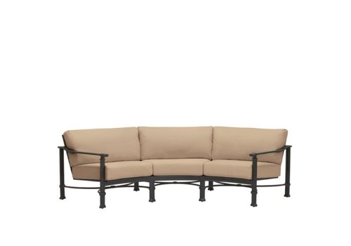 BROWN JORDAN FREMONT CURVED SOFA WITH GRADE A FABRIC