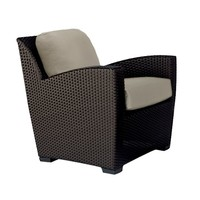 FUSION PILLOW BACK LOUNGE CHAIR IN BRONZE WITH GRADE A FABRIC