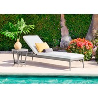 LUNA ADJUSTABLE CHAISE WITH CUSHION IN GRADE A FABRIC