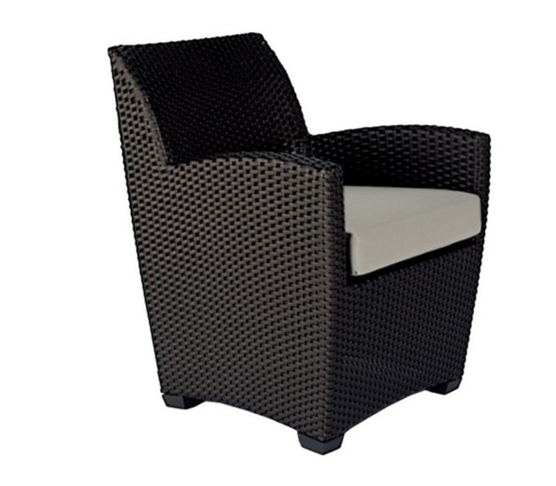 FUSION DINING CHAIR IN BRONZE WITH GRADE A FABRIC