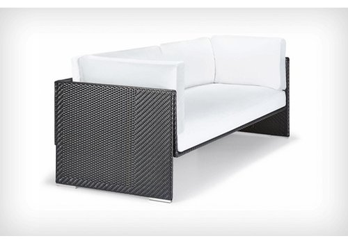 DEDON SLIM LINE 3-SEATER IN CARBON