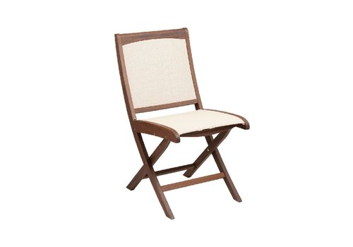 JENSEN LEISURE FURNITURE TOPAZ FOLDING SLING SIDE CHAIR - NATURAL SLING