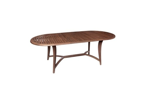 JENSEN LEISURE FURNITURE TOPAZ OVAL EXTENDING DINING TABLE