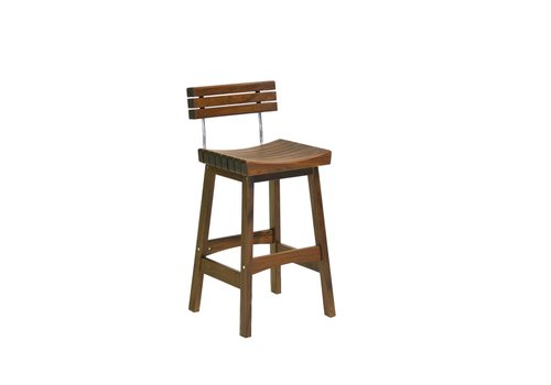 JENSEN LEISURE FURNITURE SUNSET BAR STOOL WITH BACK