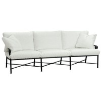 VENETIAN SOFA WITH CUSHIONS AND TWO PILLOWS IN GRADE A FABRIC
