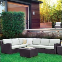 FUSION CORNER SECTIONAL IN BRONZE WITH GRADE A FABRIC