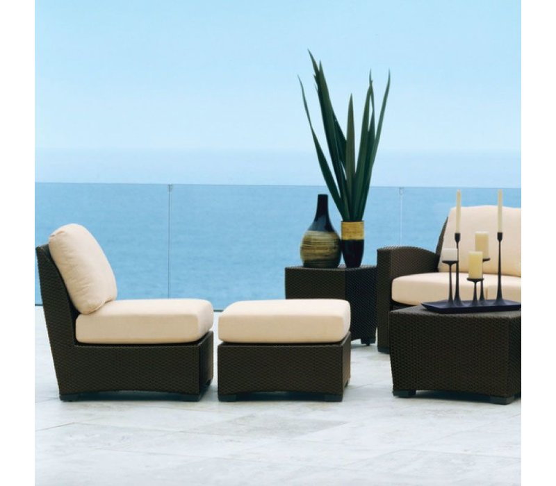 FUSION SECTIONAL OTTOMAN IN BRONZE WITH GRADE A FABRIC