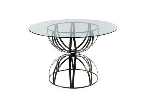 AMALFI LIVING HOURGLASS GRANDE 36 INCH ROUND TABLE BASE IN EPOXY COATED STEEL